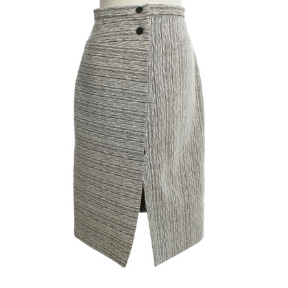 Carven Midi skirt in black / white