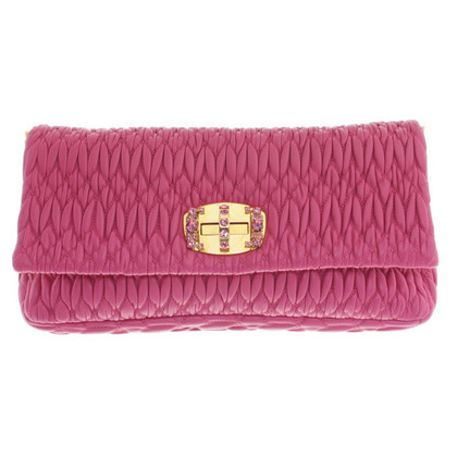Miu Miu clutch with Schmucksteindeko