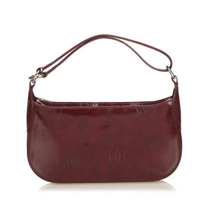 Cartier Bordeaux Patent Leather Handbag