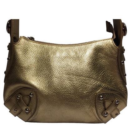 Furla Goldfarbene Lederhandtasche