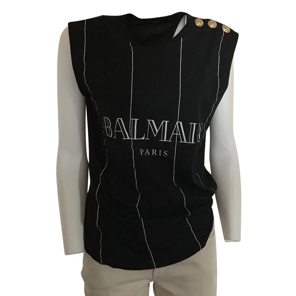 Balmain top with label print