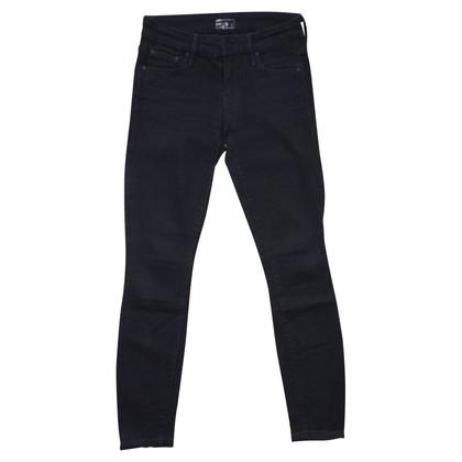 Mother Skinny Jeans in schwarz
