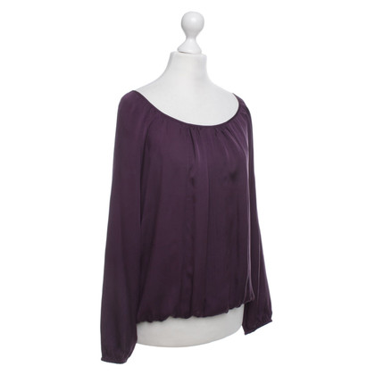 Repeat Cashmere Bluse in Violett