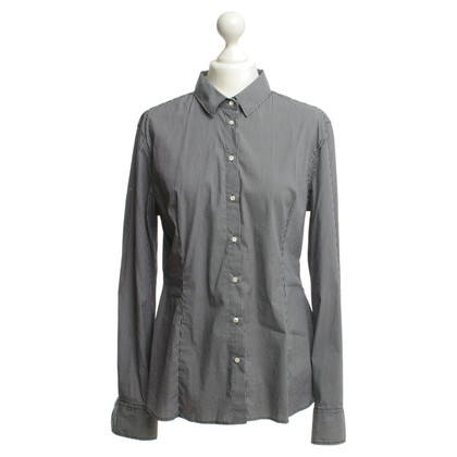 JOOP! Shirt in grey/white