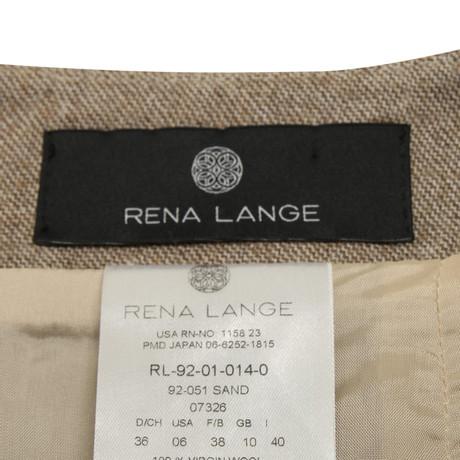 Beige in Bunt Bunt Wollrock Rena Muster Beige in Lange Rena Lange Wollrock Bq81zq