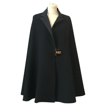 Lanvin Cape with brass gold acrylic clasp !