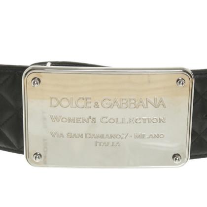 Dolce & Gabbana riem in zwart