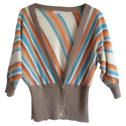 Matthew Williamson cashmere striped cardigan