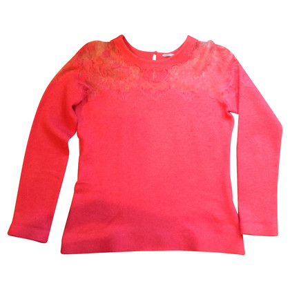 Ermanno Scervino Sweater with lace yoke
