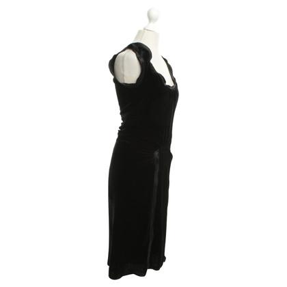 Hugo Boss Velvet Dress in zwart