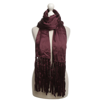 Boss Orange silk scarf in Bordeaux