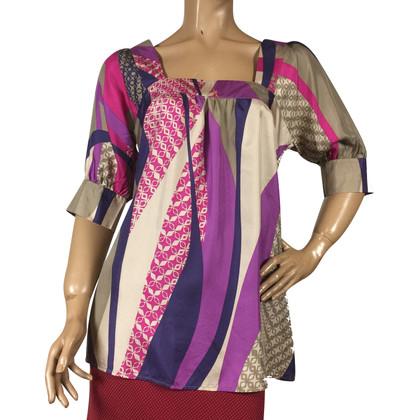 Set zijden blouse