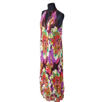 Diane von Furstenberg Zijden Maxi Jurk met kleurrijke patronen
