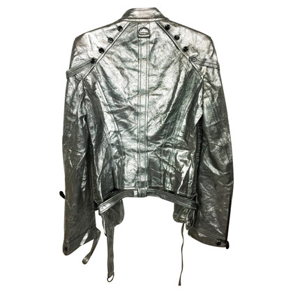 Antonio Berardi Silver-colored leather jacket