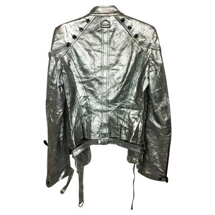 Antonio Berardi Zilveren-gekleurde lederen jas