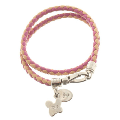 Tod's Leather bracelet in pink / nude
