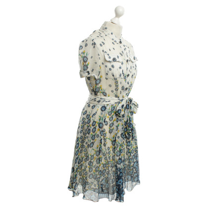 Diane von Furstenberg Floral Dress in Blue / White