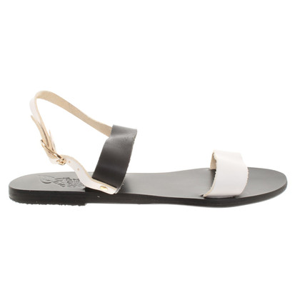 Ancient Greek Sandals Sandales en noir et blanc