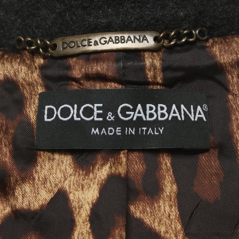Dolce & Gabbana Lederjacke im Biker Stil Second Hand Dolce