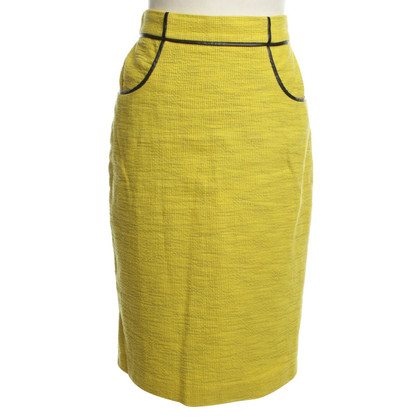 Whistles Langer kokerrok in geel