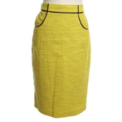 Whistles Langer pencil skirt in yellow