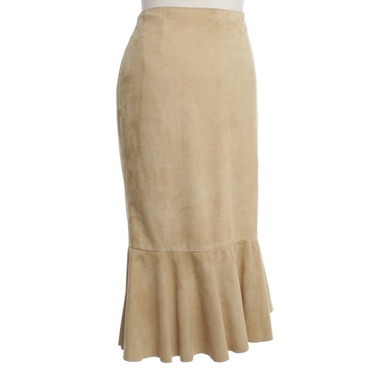 Ralph Lauren Wild leather skirt in beige