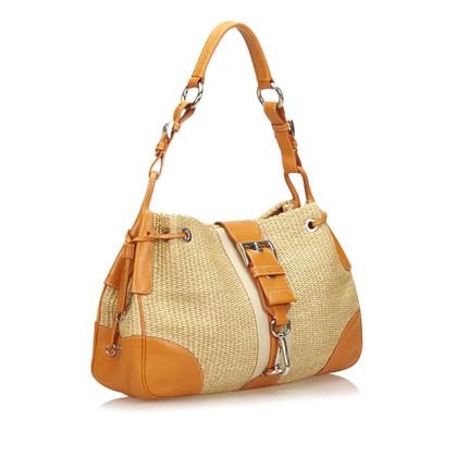 Prada Woven Shoulder Bag