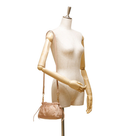 2018 Neu Zu Verkaufen Billig Verkauf Echten Miu Miu Mini gesammelt Cross Body Bag Braun Spielraum Neueste azCaOx