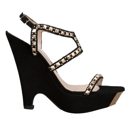 Pura Lopez Sandaletten mit Schmuckstein-Besatz