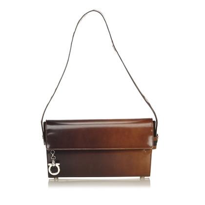 Salvatore Ferragamo Leather Gancini Gradient Shoulder Bag