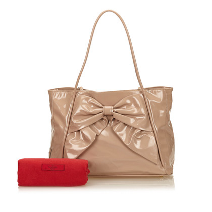 Valentino Patent Ribbon Tote Bag
