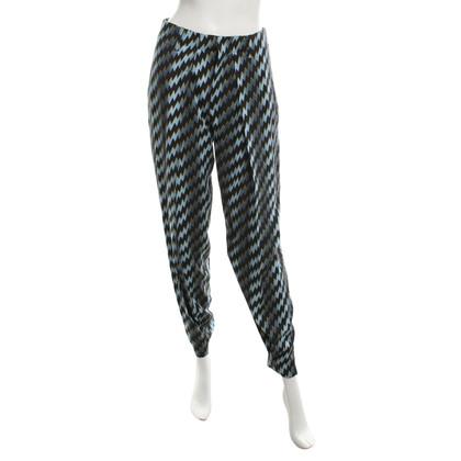 Kenzo Pantalon avec motif en zig-zag