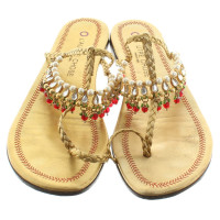L'autre Chose Sandals in gold