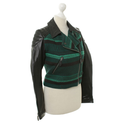 Burberry Prorsum Mix di materiali Bikerjacke