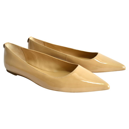 Michael Kors Patent leather ballerinas in beige