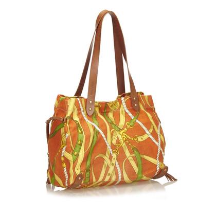 Miu Miu Canvas Tote Bag