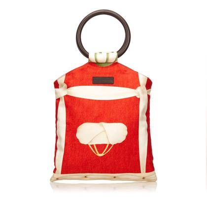Bulgari Printed Cotton Handbag