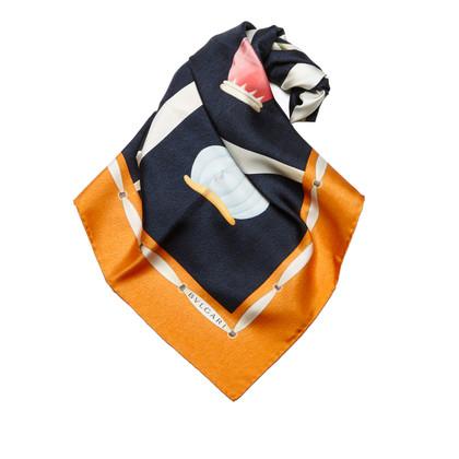 Bulgari Gedrukte zijden sjaal