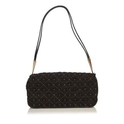 Bottega Veneta Beaded Wool Shoulder Bag
