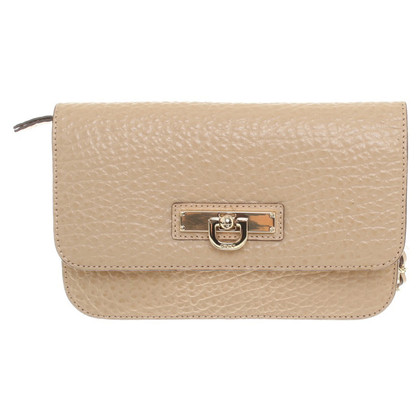 DKNY Small leather case in cream