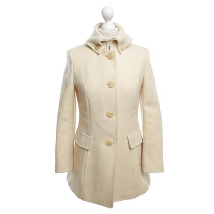 Max Mara cappotto di lana tosata in beige