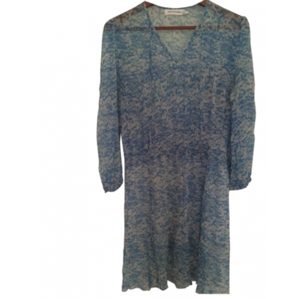 Isabel Marant Etoile Silk dress in blue and white