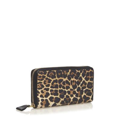 Yves Saint Laurent Portafoglio in nylon di stampa del leopardo