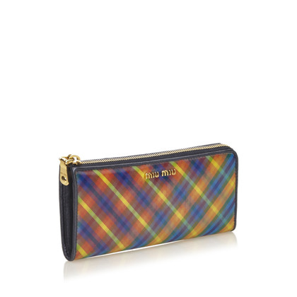 Miu Miu Striped Hologram PVC Wallet