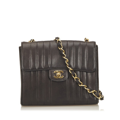 Chanel Straight Stitch Lambskin Leather Flap Bag