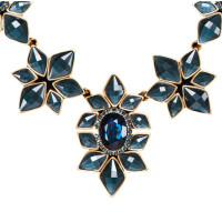 Oscar de la Renta Necklace with floral jewelery stones