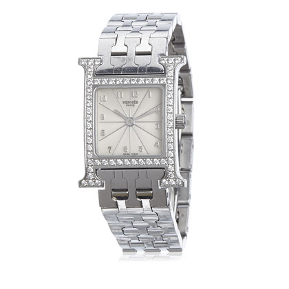Hermès Diamond Heure H PM Watch