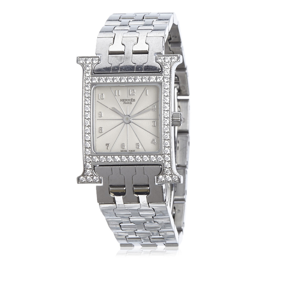 Hermès Diamond Heure H PM Watch