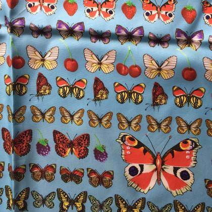 Gianni Versace Sciarpa di seta con le farfalle
