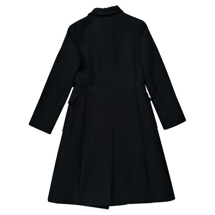 Cerruti 1881 Classic wool coat in black
